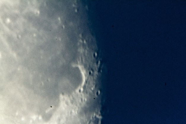 Date: 02.05.2012 Location: Backyard, Asker, NO Camera: DSLR Canon EOS 7D Optics: Celestron SCT 8″ 20000mm f10 Exposure: Unknown Post processing: PhotoShop CS5 Comment: The image is a mosaic of two images. It is my very first attempt on imaging the moon.