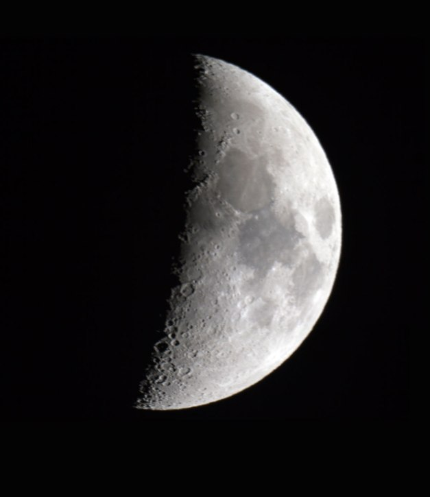 Date: 29.04.2012 Location: Backyard, Asker, NO Camera: DSLR Canon EOS 7D Optics: Celestron SCT 8″ 20000mm f10 Exposure: Unknown Post processing: PhotoShop CS5 Comment: The image is a mosaic of two images. It is my very first attempt on imaging the moon.