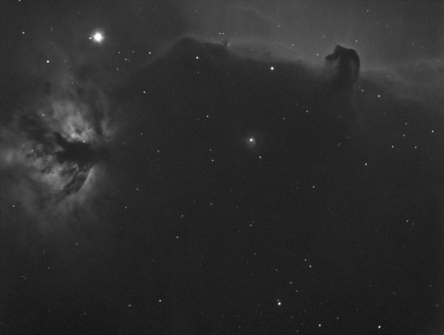 "Date: 11.10.2013 Location: Sollihøgda, Bærum, NO Camera: SBIG STT-8300 MONO CCD Optics: Celestron SCT 8"" 1260mm f6,3 Exposure: 1 x 10 min lightframes Filter: Hydrogene-Alpha Guiding: SBIG STT-8300 Selfguiding FW Post processing: MaxIM DL, PhotoShop CS5"